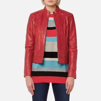 BOSS ORANGE Women's Janabelle3 Leather Jacket