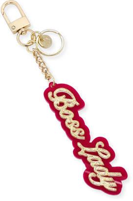 Neiman Marcus Boss Lady Glitter Acrylic Key Chain