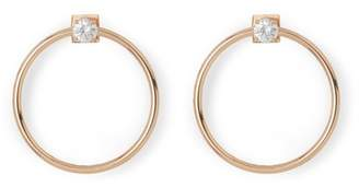 Vince Camuto CZ Front Facing Hoop Earrings
