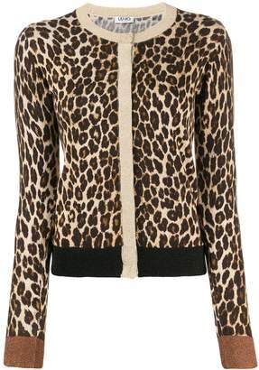Liu Jo slim-fit leopard cardigan