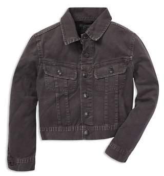 Ralph Lauren Boys' Flag Denim Jacket - Big Kid