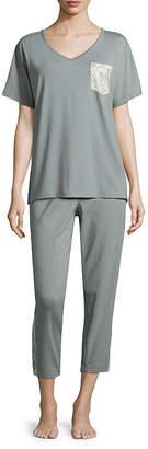 Liz Claiborne Printed Pajama Set-Talls
