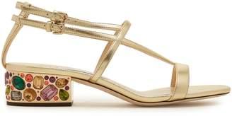 Jimmy Choo Maeve 35 metallic crystal embellished sandals