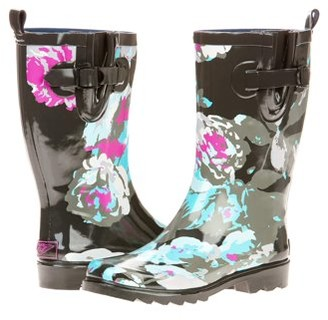 Forever Young Women's Big Floral Printed Rain Boot