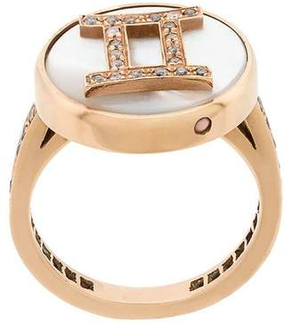 Carolina Bucci 18kt gold and diamond Lucky Gemini Zodiac ring