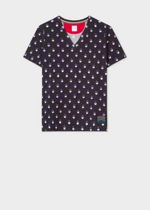 Paul Smith Women's Black 'Eclipse Spot' V-Neck T-Shirt