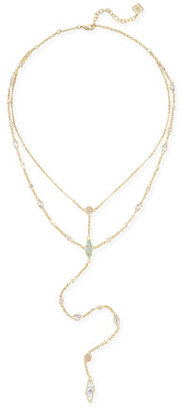 Kendra Scott Krista Statement Necklace in Yellow Gold Plate $130 thestylecure.com