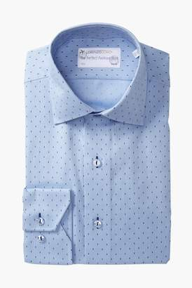 Lorenzo Uomo Woven Dot Trim Fit Dress Shirt