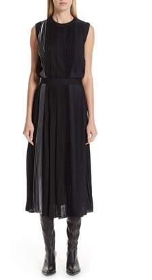 Givenchy Mixed Pleat Dress