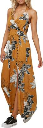 O'Neill Rubia Floral Print Halter Maxi Dress