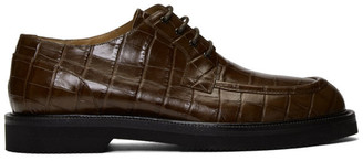 Dries Van Noten Brown Croc Derbys