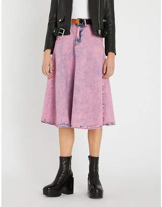 B+AB Belted denim skirt