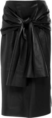 Joseph Renne Leather Knot Midi Skirt
