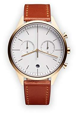 Uniform Wares C39 Swiss Quartz Stainless Steel and Brown Leather Watch