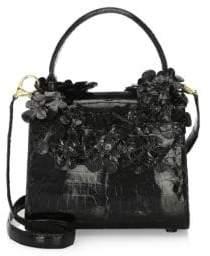 Nancy Gonzalez Small Leaf Lily Crocodile Handbag