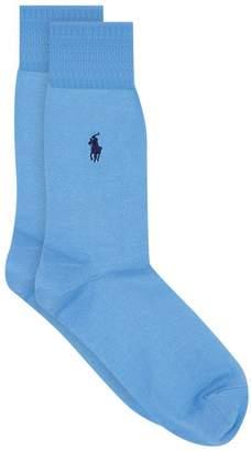 Ralph Lauren Logo Embroidered Socks