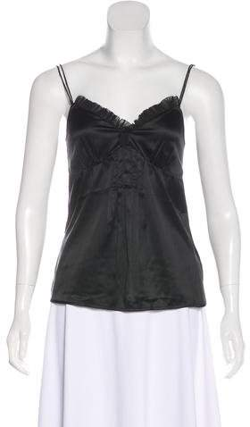 Burberry London Ruffle-Accented Silk Camisole Top