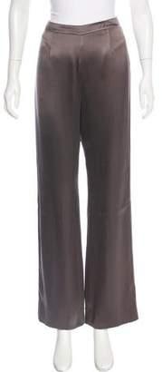 Giorgio Armani High-Rise Satin Pants