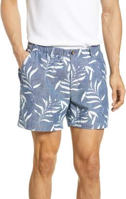Vintage 1946 Snappers Palm Print Shorts
