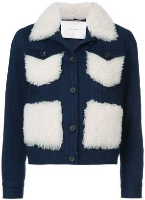 ADAM by Adam Lippes shearling-trimmed denim jacket