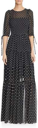 Betsey Johnson Polka-Dot Maxi Dress