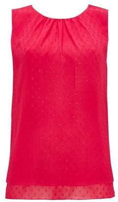 Wallis Pink Double Layer Embellished Top