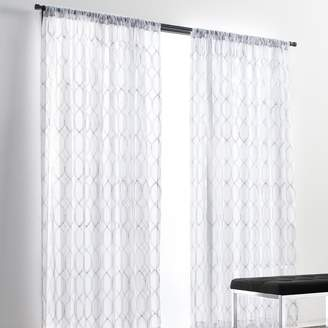 Vera Wang Simply Vera Embroidered 1-panel Sheer Window Curtain