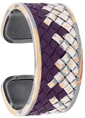Bottega Veneta woven cuff bracelet