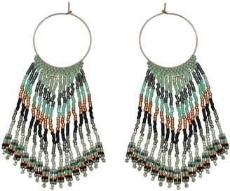 LeJu London Waterfall Earrings In Copper Green And Grey Tones