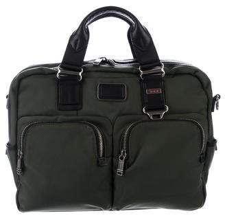 Tumi Leather-Trimmed Messenger Bag