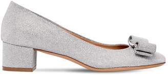 Salvatore Ferragamo 40mm Vara Glittered Pumps