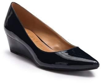 Calvin Klein Garya Faux Leather Patent Wedge Flat