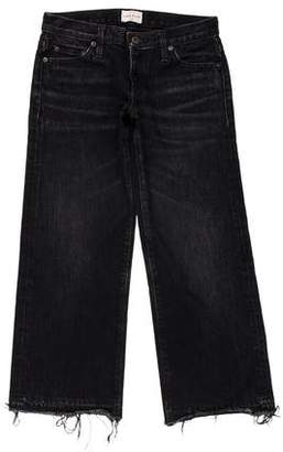 Simon Miller Mid-Rise Wide-Leg Cropped Jeans