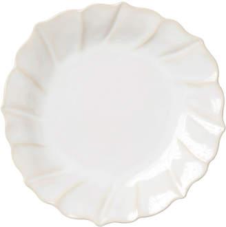 Vietri Incanto Stone Ruffle Salad Plate, Linen