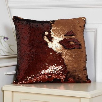 """Mainstays Reversible 17""""x17"""" Sequin Sparkle Pillow, Available in Multiple Colors"""