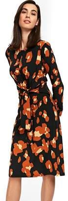 Wallis Black Smudge Animal Print Midi Dress