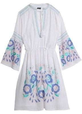 Antik Batik Rubi Embroidered Cotton-Voile Dress