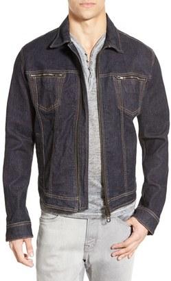 John Varvatos Star USA Zip Front Denim Jacket $198 thestylecure.com