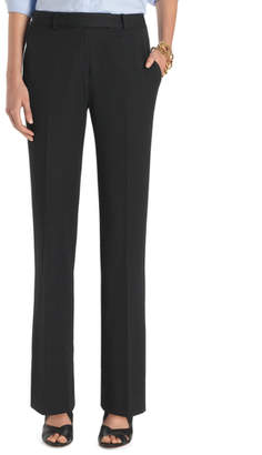 Brooks Brothers Plain-Front Caroline Fit Fluid Stretch Dress Trousers