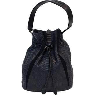 Khirma Eliazov Black Python Handbag