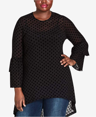 City Chic Trendy Plus Size High-Low Tunic