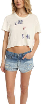 Warehouse Via Spare Day by Day Crop Tee