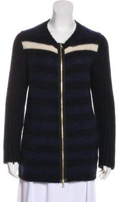 Marni Long-Sleeve Mohair Cardigan