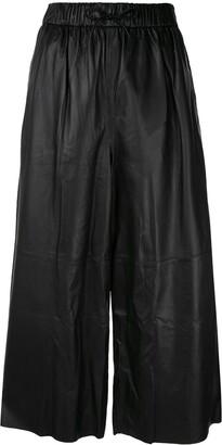 Yves Salomon high-waist leather trousers