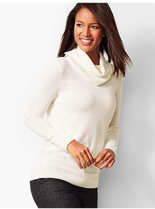 Talbots Merino Button-Cuff Cowlneck Sweater