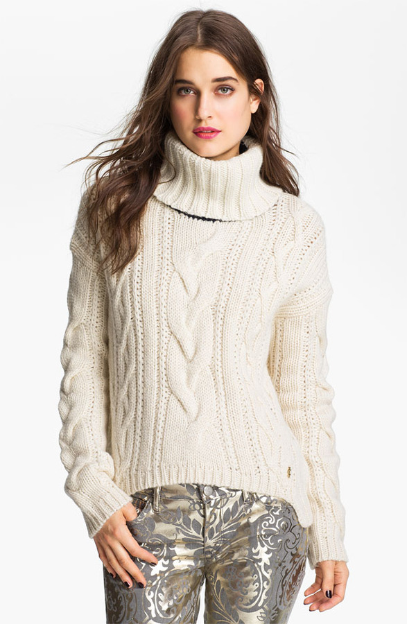 Juicy Couture Chunky Cable Turtleneck Sweater