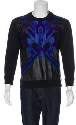 Versace Alpaca Leather-Trimmed Sweatshirt