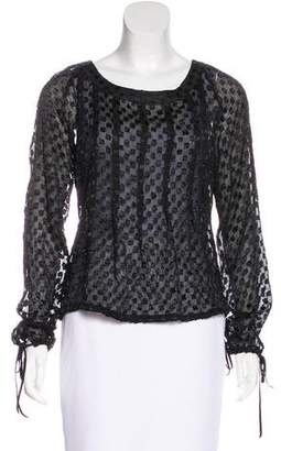 Giuliana Teso Sheer Long Sleeve Top
