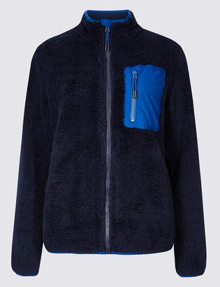 M&S CollectionMarks and Spencer Zipped Through Funnel Neck Fleece Jacket
