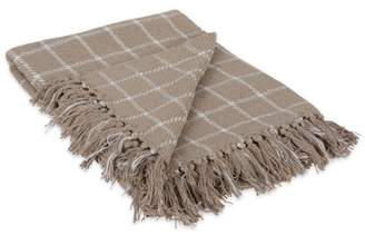 """Dii DII Checked Plaid Decorative Throw, 50""""x60"""", 100% Cotton, Multiple Colors"""